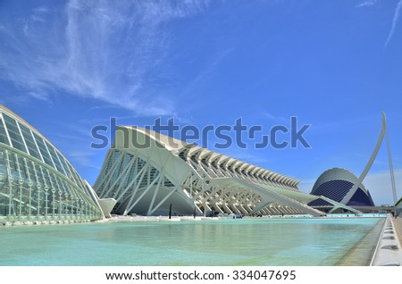 Valencia, Spain - May 09, 2013: The City of Arts and Sciences. - stock photo