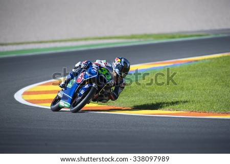 VALENCIA, SPAIN - NOVEMBER 6: Enea Bastianini during Valencia MotoGP 2015 at Ricardo Tormo Circuit on November 6, 2015 in Valencia, Spain