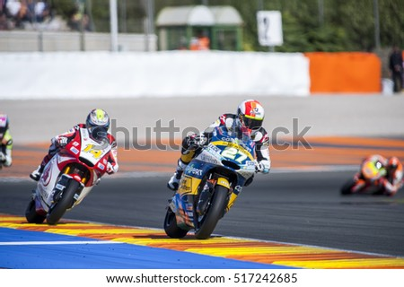 VALENCIA, SPAIN - NOVEMBER 11: Iker Lecuona, Ratthapark Wilairot during Valencia MotoGP 2016 at Ricardo Tormo Circuit on November 11, 2016 in Valencia, Spain