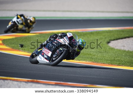 VALENCIA, SPAIN - NOVEMBER 6: Johann Zarco during Valencia MotoGP 2015 at Ricardo Tormo Circuit on November 6, 2015 in Valencia, Spain