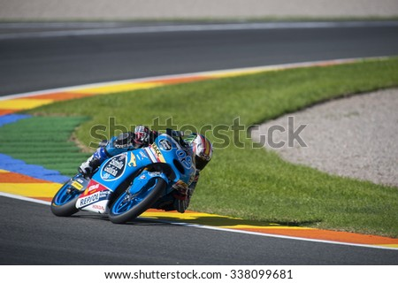VALENCIA, SPAIN - NOVEMBER 6: Jorge Navarro during Valencia MotoGP 2015 at Ricardo Tormo Circuit on November 6, 2015 in Valencia, Spain