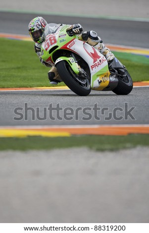 VALENCIA, SPAIN - NOVEMBER 6: Loris Capirossi in motogp Grand Prix of the Comunitat Valenciana, Ricardo Tormo Circuit of Cheste, Spain on november 6, 2011