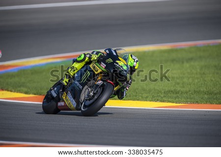 VALENCIA, SPAIN - NOVEMBER 8: Pol Espargaro during Valencia MotoGP 2015 at Ricardo Tormo Circuit on November 8, 2015 in Valencia, Spain