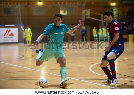 VALENCIA, SPAIN - NOVEMBER 8th: Romulo with ball during Spanish King Cup match between Levante UD FS and FC Barcelona at Cabanyal Stadium on November 8, 2016 in Valencia, Spain
