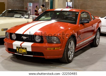VALENCIA, SPAIN - OCT. 17:  Ford Mustang at the Valencia Car Show on October 17, 2008 in Valencia, Spain - stock photo
