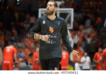 VALENCIA, SPAIN - OCTOBER 12th: Tim Ohlbrecht during Eurocup match between Valencia Basket and Ratiopharm Ulm at Fonteta Stadium on October 12, 2016 in Valencia, Spain
