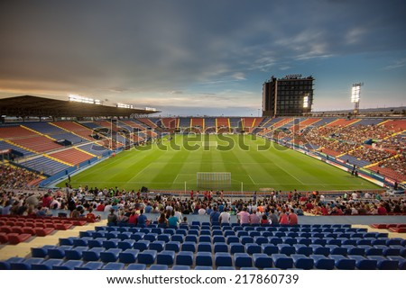 Valencia, Spain, September 8, 2014: Pedro during EURO 2016 Group C European Qualifiers game between Spain and Macedonia at Estadio Ciutat de Valencia on September 8, 2014 in Valencia, Spain - stock photo