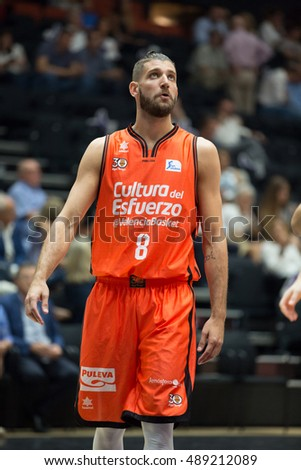 VALENCIA, SPAIN - SEPTEMBER 25th: Diot during match between Valencia Basket and Estudiantes at Fonteta Stadium on September 25, 2016 in Valencia, Spain