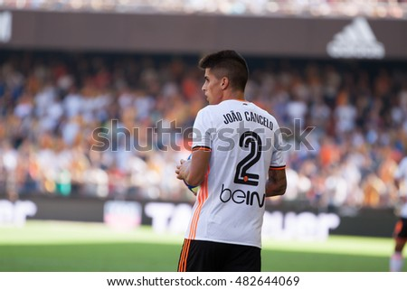 VALENCIA, SPAIN - SEPTEMBER 11th: Joao Cancelo during Spanish League match between Valencia CF and Real Betis at Mestalla Stadium on September 11, 2016 in Valencia, Spain