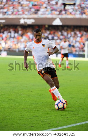 VALENCIA, SPAIN - SEPTEMBER 11th: Nani during Spanish League match between Valencia CF and Real Betis at Mestalla Stadium on September 11, 2016 in Valencia, Spain