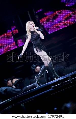 Valencia (Spain) - September 18th 2008 - sticky & sweet tour - Ricardo Tormo Circuit of Valencia - Madonna - stock photo