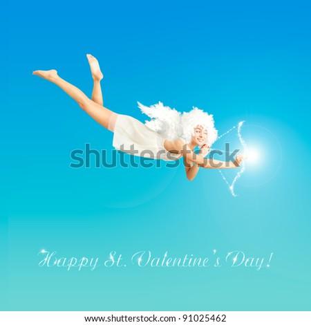 Valentine Angel - stock photo