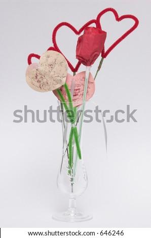 Valentine Arts and Crafts - stock photo
