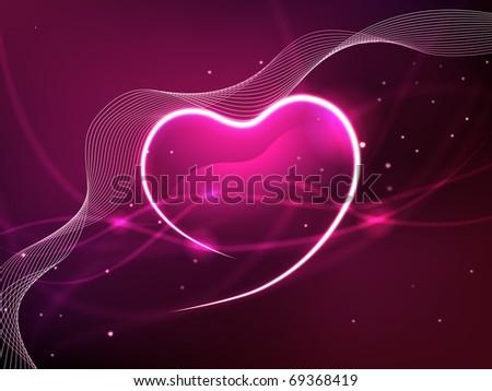 Valentine background - stock photo