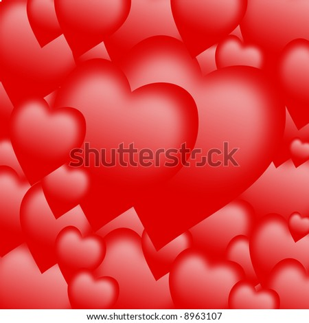 valentine background formed by hearts - stock photo
