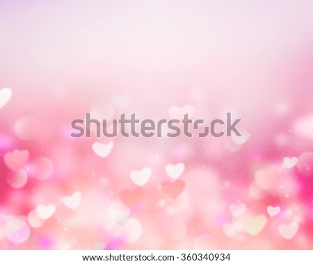 Valentine Background Pink Blur Hearts Empty Stock Illustration ...