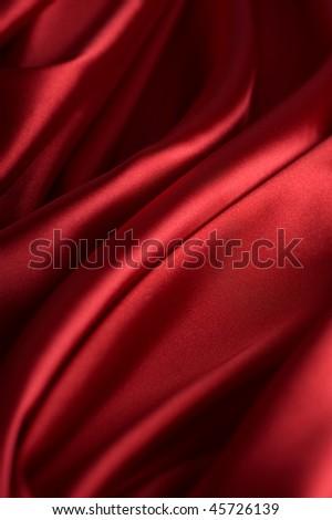 Valentine Background.Red Silk - stock photo