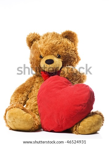 Valentine bear - stock photo