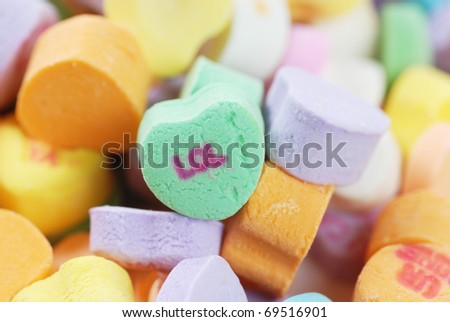 Valentine candies and decorations - stock photo