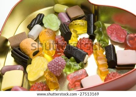 valentine candy heart - stock photo