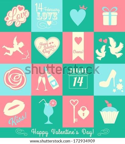 Valentine card - stock photo
