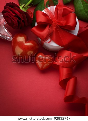 Valentine Card Design with Space for your Text - stock photo