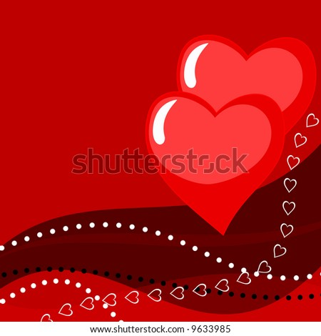 valentine card illustration - stock photo
