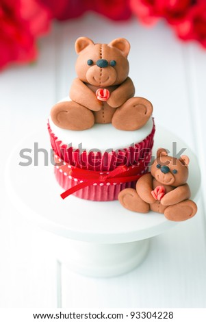 Valentine cupcake - stock photo