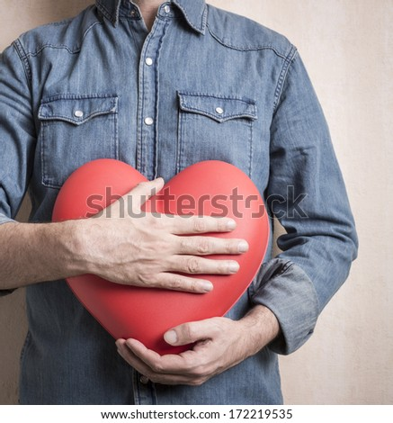 Valentine Day concept, selective focus on center - stock photo