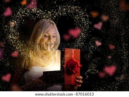 Valentine day gift - stock photo