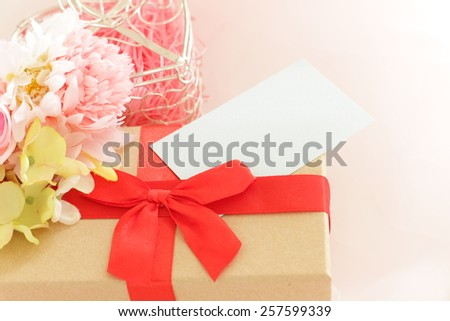 Valentine day gift box - stock photo
