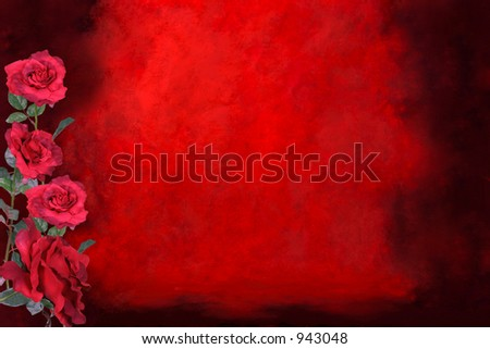 Valentine Fantasy Red Rose Backdrop Background Photographer Studio Set (Insert Isolated Client)