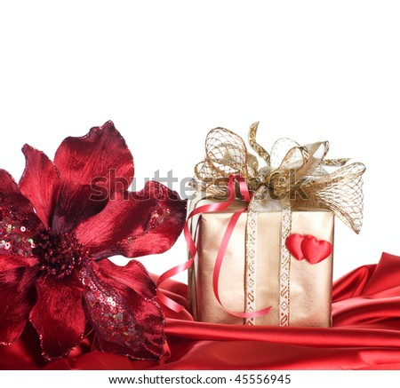 Valentine Gift isolated on white