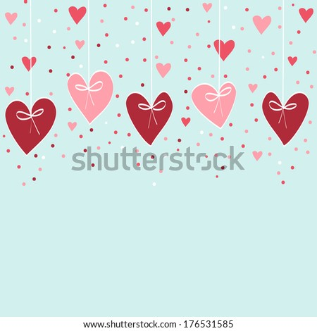 Valentine hand drawing background -  illustration - stock photo