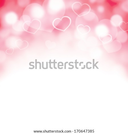 Valentine heart illustration with room for copy space. - stock photo