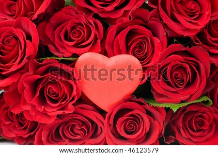Valentine Heart in red roses