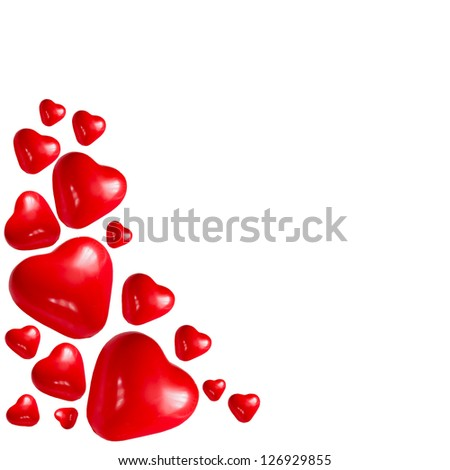 Valentine heart ,  on a white background