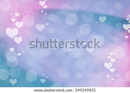 Valentine Hearts Abstract Background. St.Valentine's Day Wallpaper. Heart Holiday Backdrop - stock photo