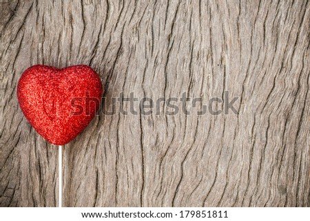 valentine hearts on grunge wood background