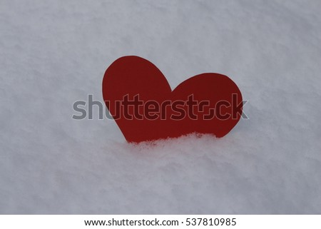 Valentine in the snow