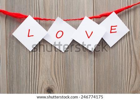 Valentine love letter - stock photo