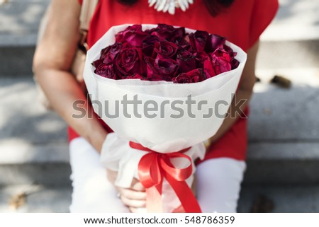 Valentine Rose Bouquet Romantic Happy