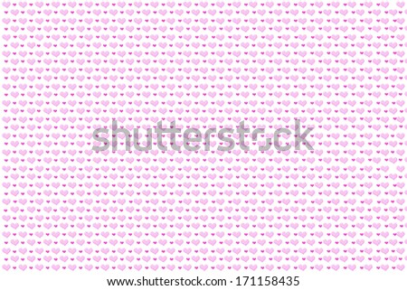 Valentine�´s background made of hearts in pink tones