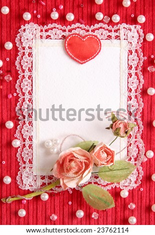 Valentine's card with copy space - stock photo