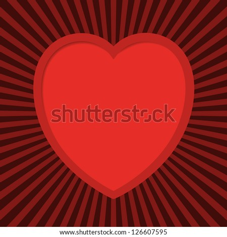 Valentine's card with cut out heart.