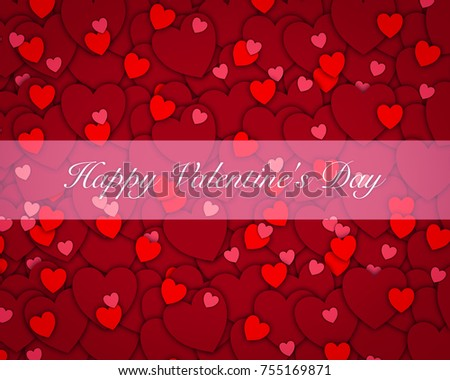Happy Saint Valentines Day Background Decoration Stock Vector ...