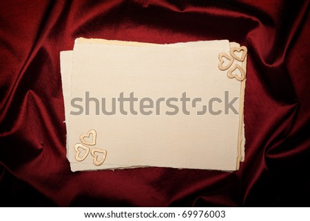 Valentine's Day - blank paper sheet
