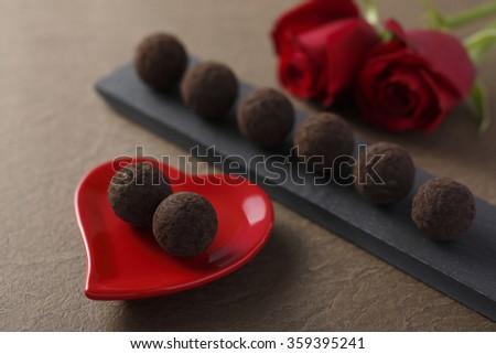 Valentine's day chocolate - stock photo
