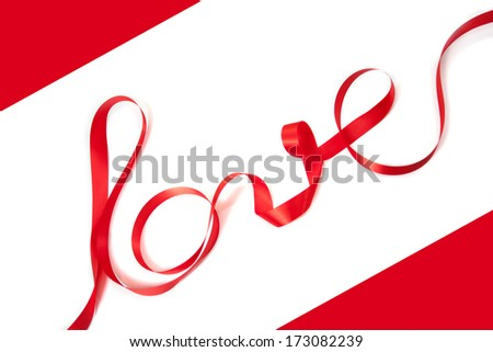 Valentine's day concept,Love ribbons.
