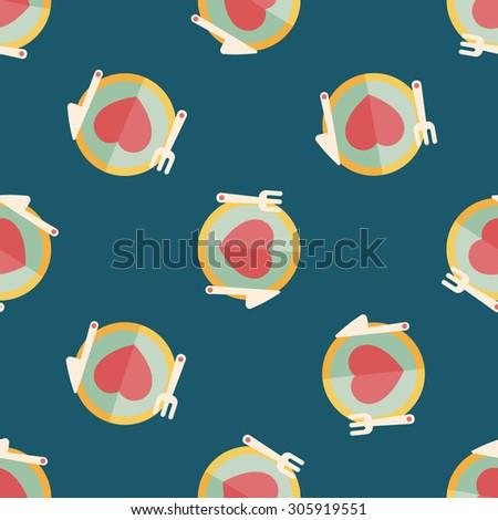 Valentine's Day flat icon,seamless pattern background - stock photo
